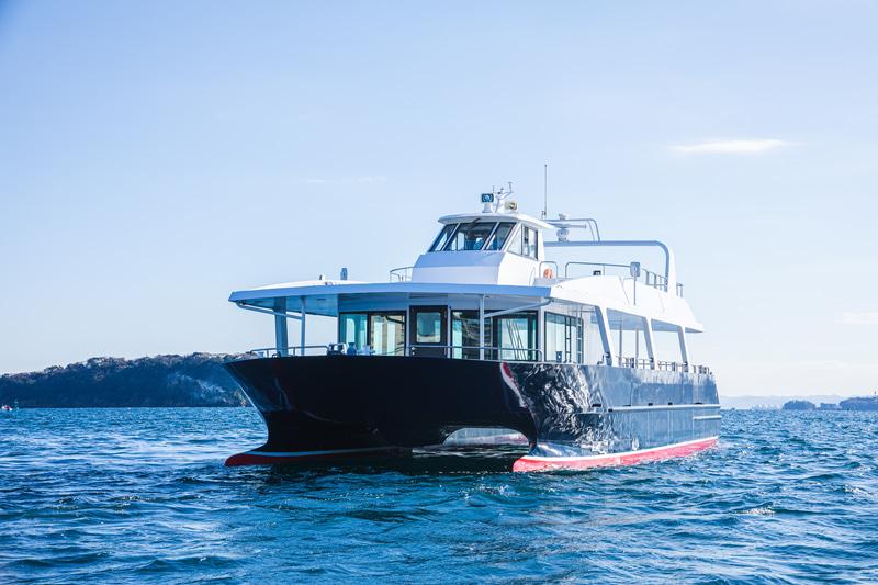 無人運航船@横須賀市猿島