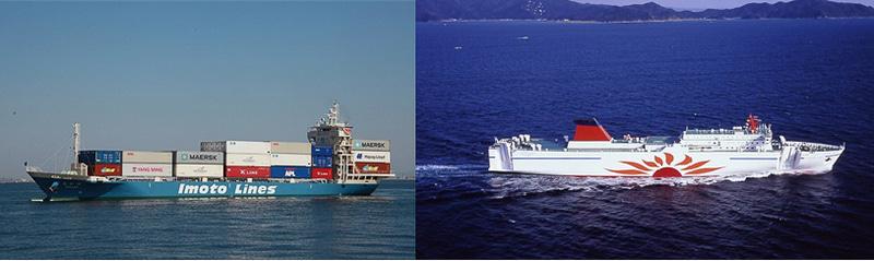 内航コンテナ船とカーフェリーに拠る無人化技術実証実験
