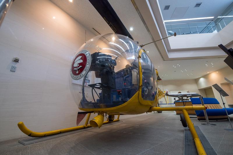 日本ヘリコプター輸送創業時に導入した「ベル47D-1」型機の1機