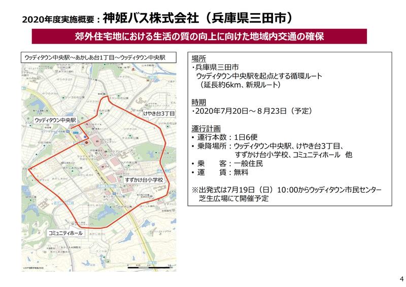 7月20日から実施する神姫バスの実証実験概要