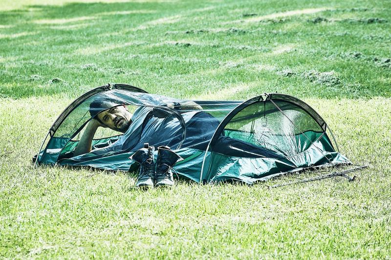 木がない場所でもグランドテントとして設置できる
