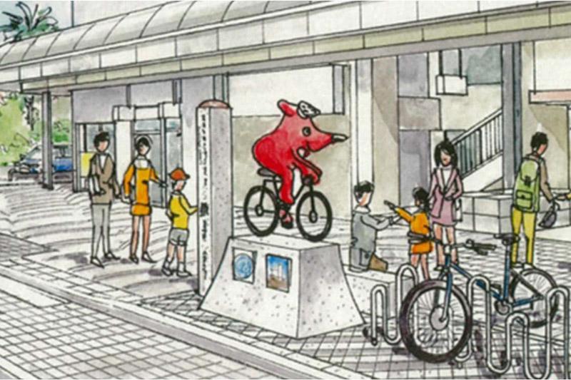 千葉県は太平洋自転車道の起点モニュメントを銚子駅前に設置する