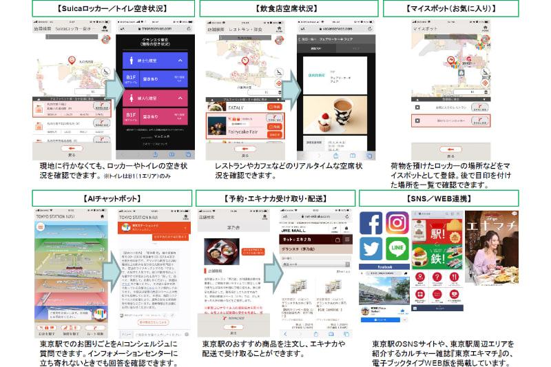 スマホアプリ「東京ステーションナビ」がバージョンアップで便利に