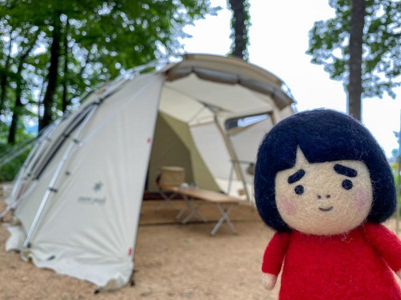 スノーピークグッズに囲まれてキャンプを体験できました