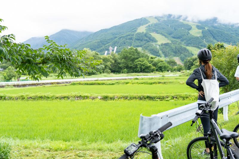 電動レンタサイクルで白馬村をのんびりサイクリング