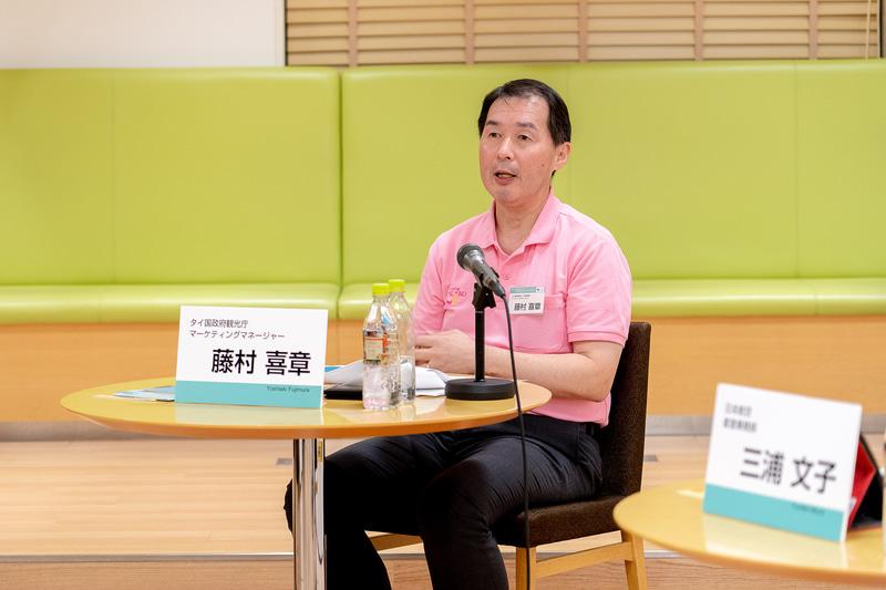 藤村氏は、タイ国政府観光庁が国内の観光業者の方向けに主催する「タイランド・スペシャリスト検定」についても説明した