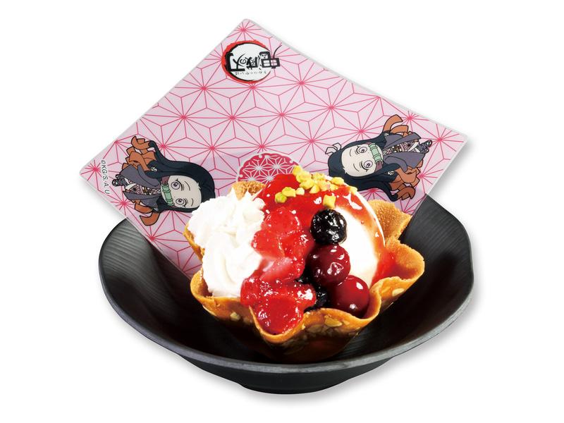 「禰豆子のたっぷりベリーアイス」(308円、9月11日~10月31日)