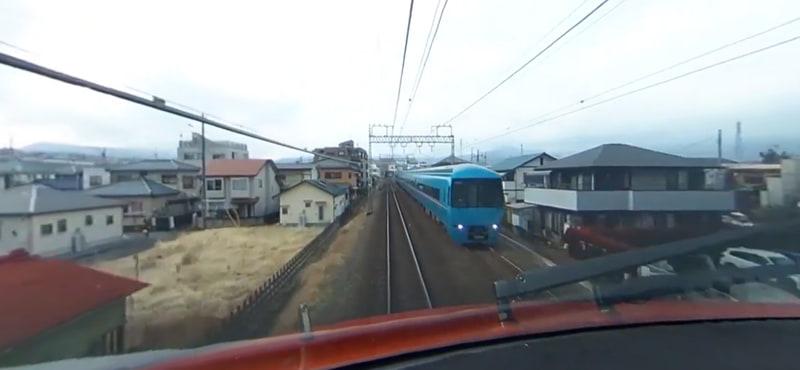 小田急 ロマンスカー・GSE(70000形)360度パノラマ運転席映像イメージ