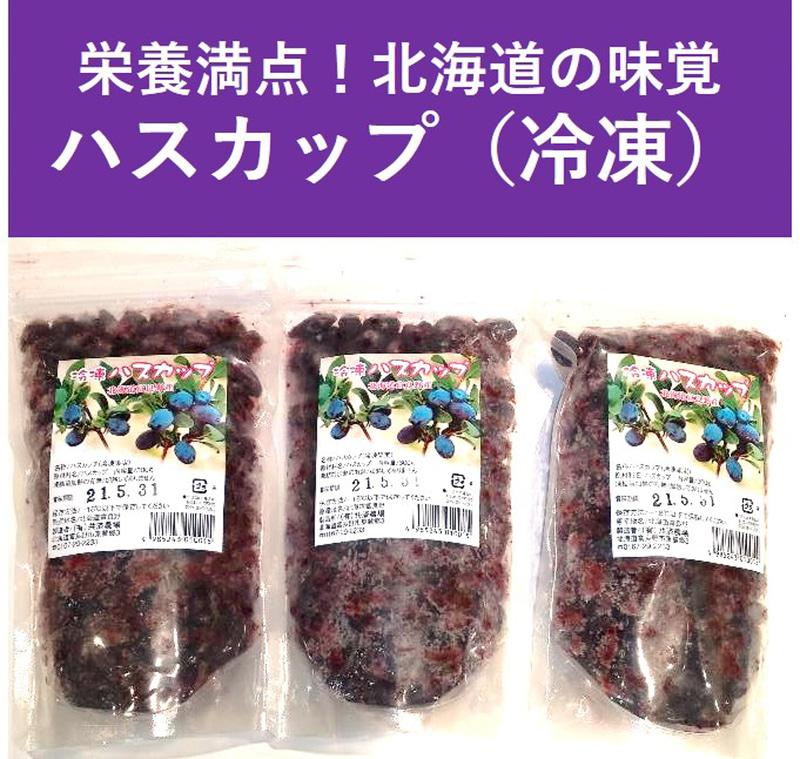 「北海道の味覚!栄養満点ふらのジャム園のハスカップ(冷凍)3パックセット」(割引価格4050円)