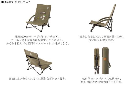 SNOOPY あぐらチェア(6800円)