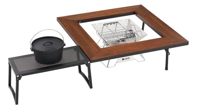「囲炉裏テーブル」と組み合わせて作業スペースの拡大も