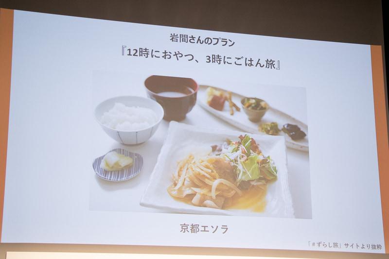 岩間孝志さんは「12時におやつ、3時にごはん旅」を提案