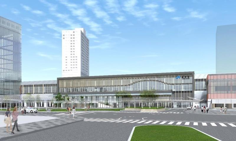 鉄道・運輸機構は10月5日から北陸新幹線 福井駅舎の新築工事に着手する
