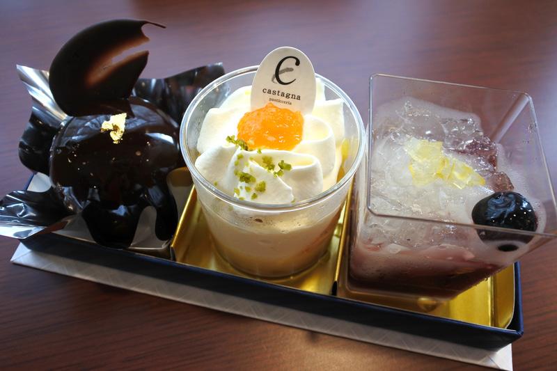 「瀬戸の小箱~洋~」はピオーネゼリー、柑橘チーズケーキなど3種類