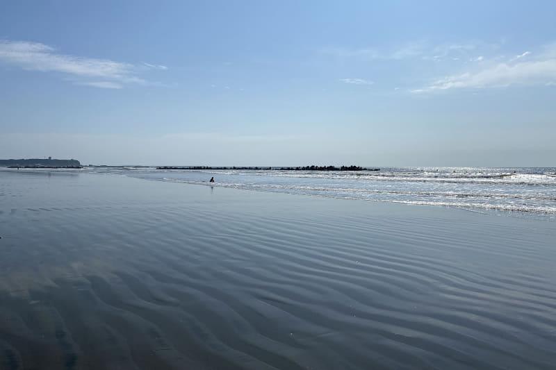九十九里オートキャンプ場 太陽と海から九十九里浜までは歩いて数分。いつでも気軽に海岸に行くことができる