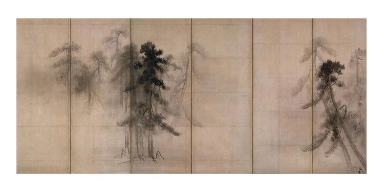松林図屏風