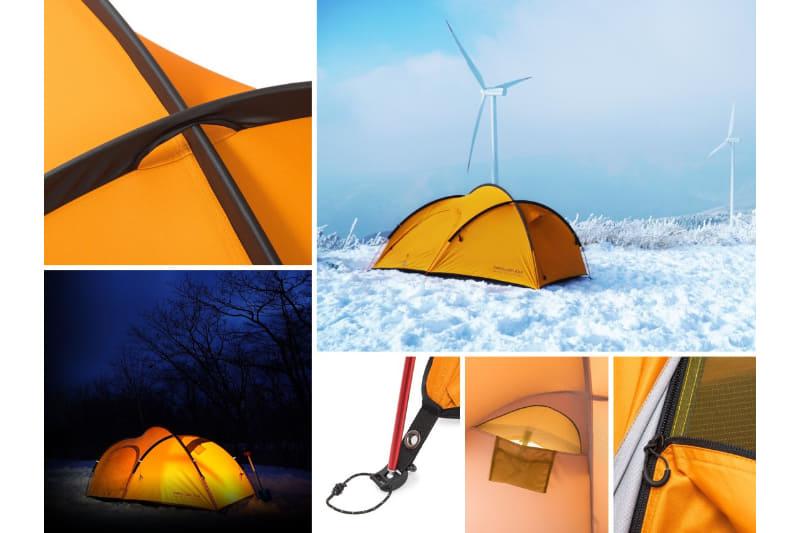 ZEROGRAMは、厳冬期にも快適な2名用の軽量シングルウォールテント「Papillon EXP」を発売した