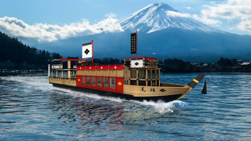 富士急行は新遊覧船「天晴」の運航を開始する