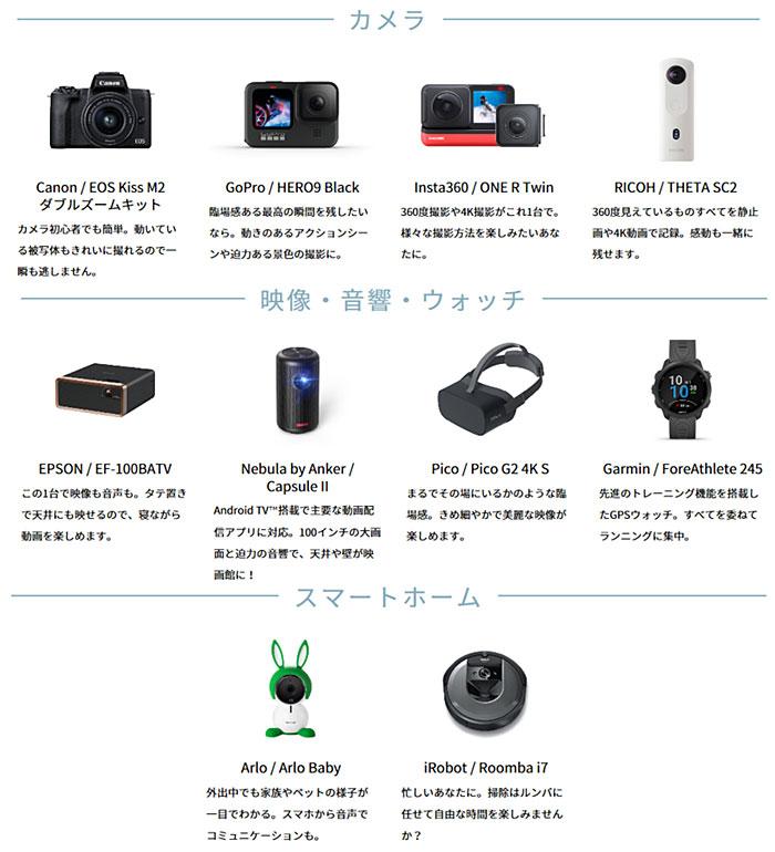 「kikitoおためしキャンペーン」商品ラインアップ