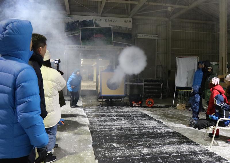 巨大空気砲実験