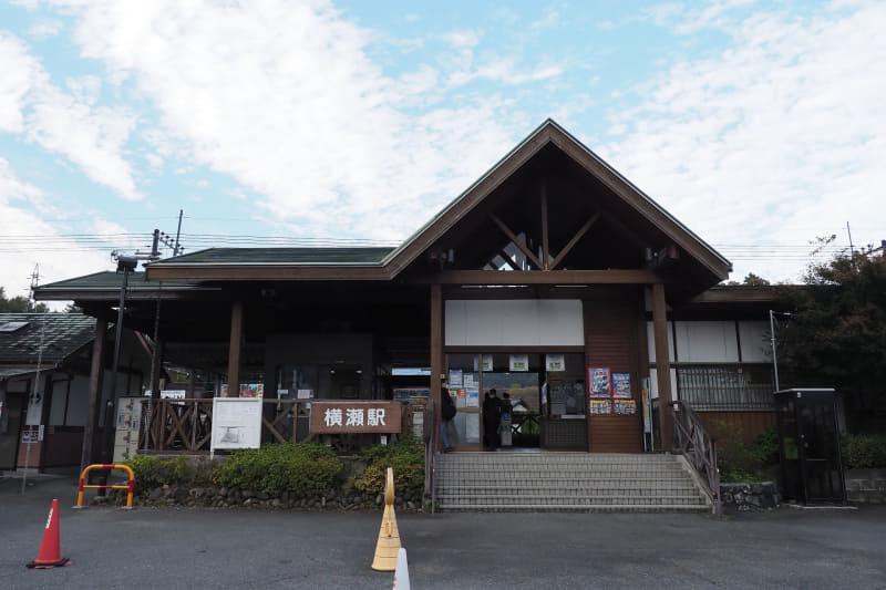 西武秩父線 横瀬駅。ここから徒歩で会場に向かう