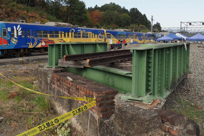 かつての山手跨線橋が保存されていた
