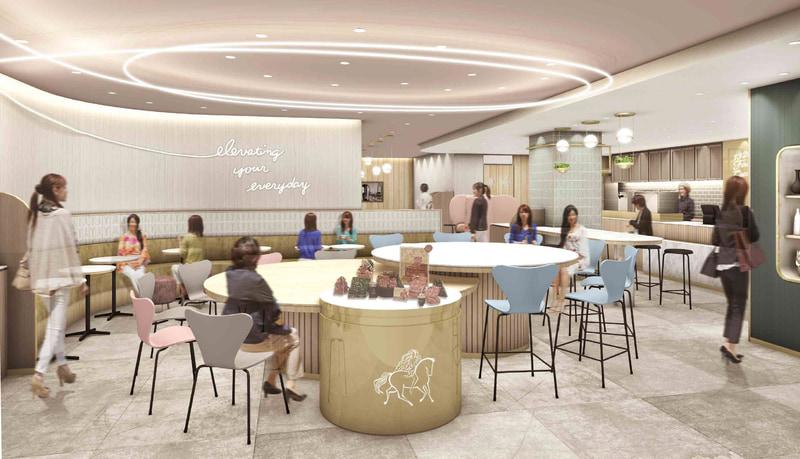 ゴディバ ジャパンは、国内初の「GODIVA café」を東京駅グランルーフ フロントにオープンする