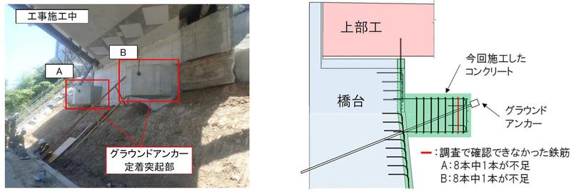 「北原橋A1 橋台(下り線側)」