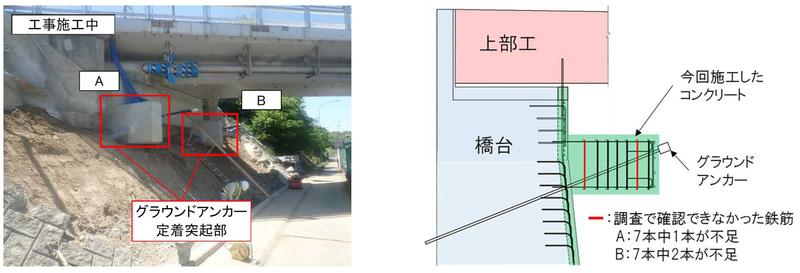 「絵堂橋A1 橋台(下り線側)」