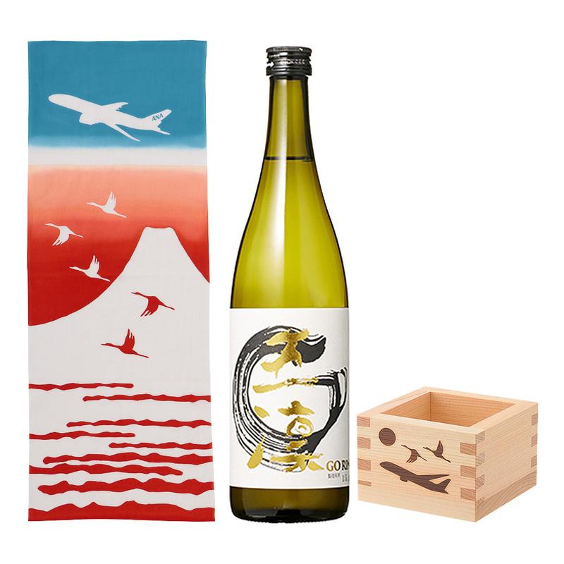 アプリ限定「てぬぐい・升・日本酒セット」(5500円)
