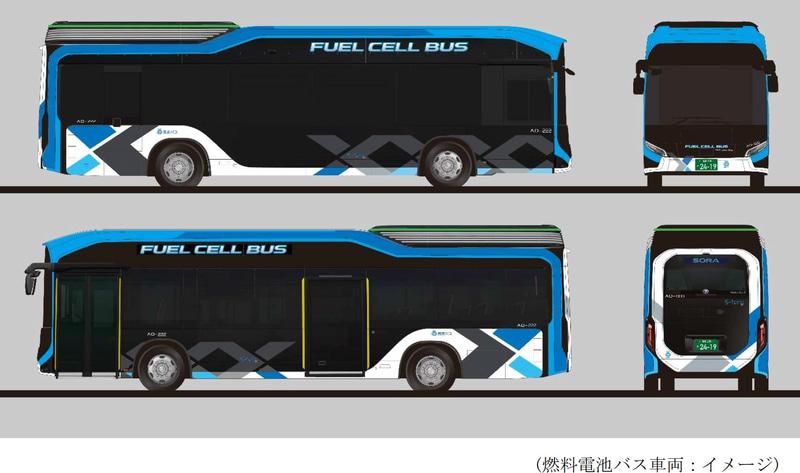 西武バスが導入する燃料電池バスのデザイン
