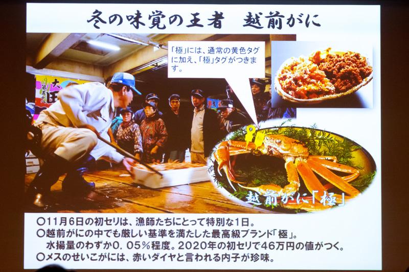 カニ漁に適した海が近い福井県は高級カニの産地として名高い。あわら温泉では冬の味覚を堪能できる