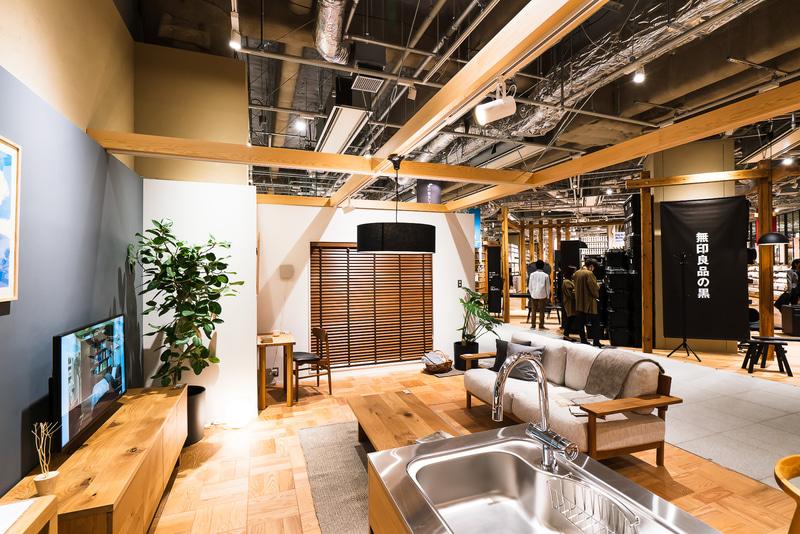 「無印良品 東京有明」2階にある家の一部のみをリフォームする「MUJI INFILL+」のモデルルーム