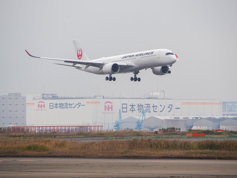 羽田空港に飛来した7号機(写真提供:日本航空)