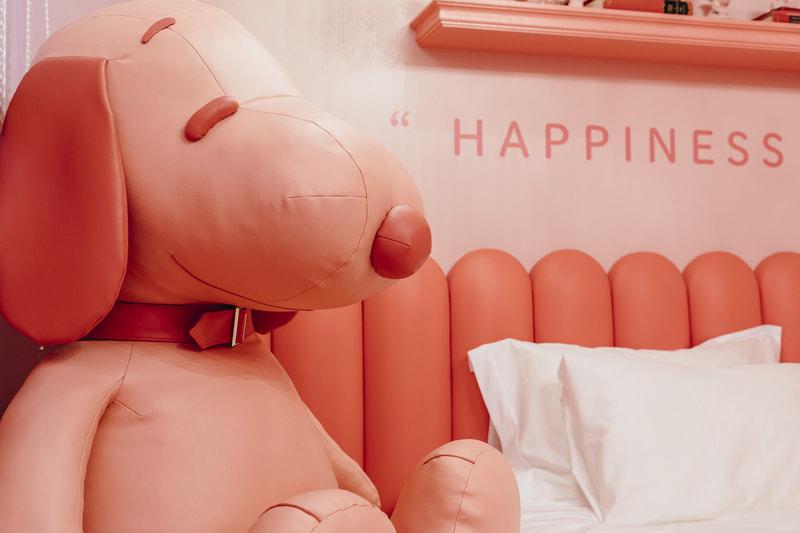 「PEANUTS HOTEL」の客室「ROOM64」にある巨大スヌーピー