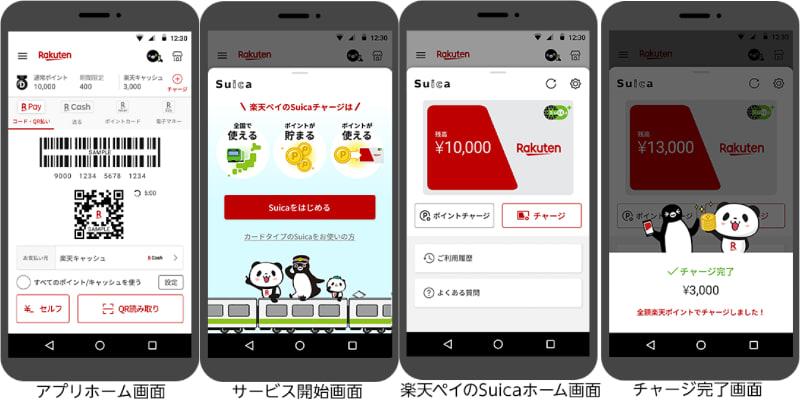 楽天ペイ(アプリ決済)で楽天ポイントからSuicaへのチャージが可能に