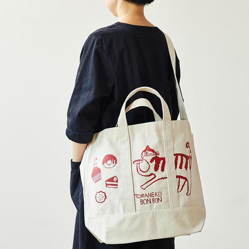 トラネコボンボンデザインのオリジナルバッグ