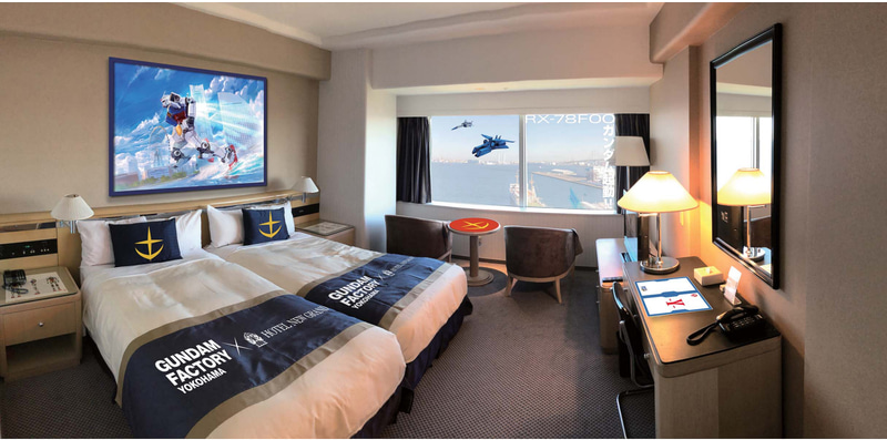 日本旅行とホテルニューグランドが「GUNDAM FACTORY YOKOHAMA」コンセプトルームを発売する