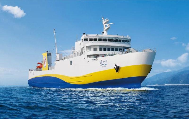 国道九四フェリーは2021年2月1日に新造船「涼かぜ(すずかぜ)」を就航