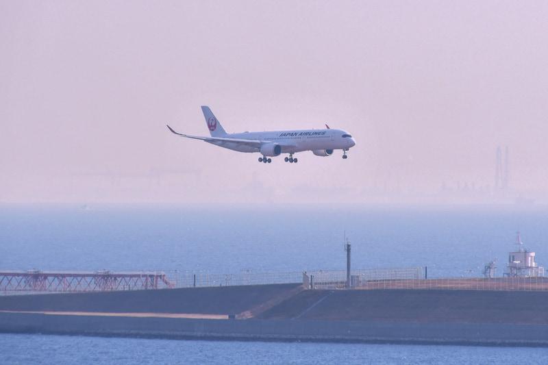 11時間半かけて日本にやってきた8号機(写真提供:日本航空)