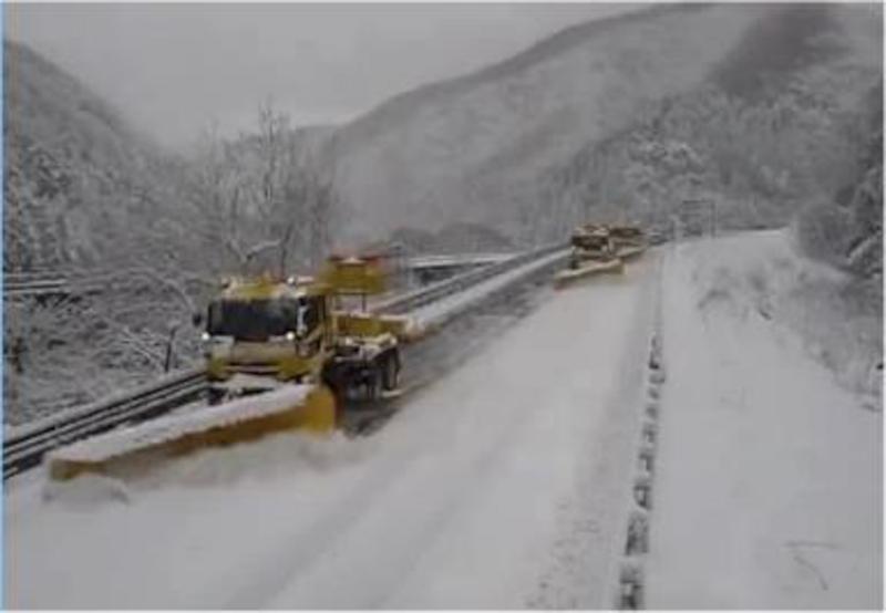 年末の大雪での除雪作業の様子