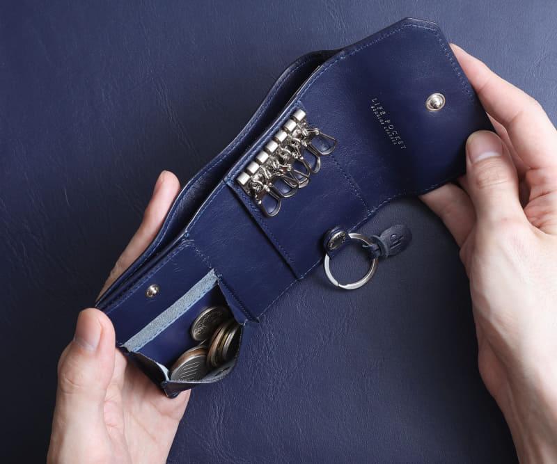 多目的に使える蓋つきのコインポケット