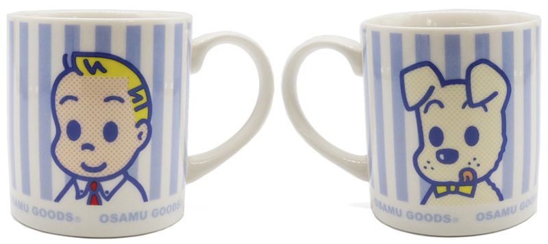 「マグカップ ストライプ(ブルー)」1320円
