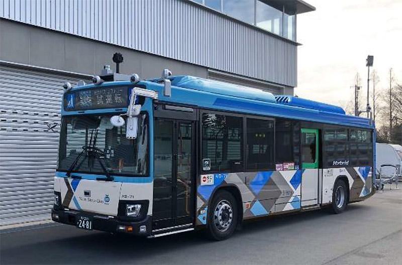 西武バスは通常営業路線で大型自動運転バスの実証実験を実施する