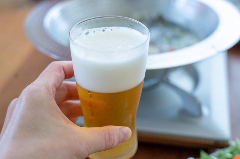 当然のことながらビールも進みます
