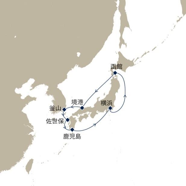 新緑の日本周遊と韓国10日間のプラン