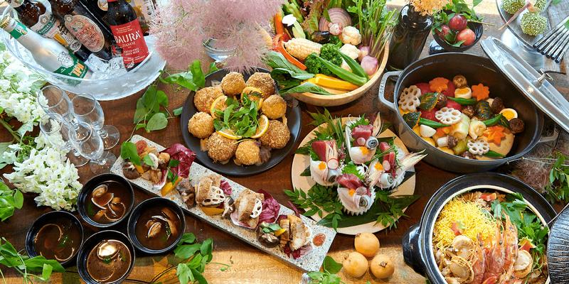 地域の食材を生かしたディナーコース