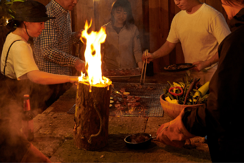 有料オプションで、BBQや焚き火も利用可能
