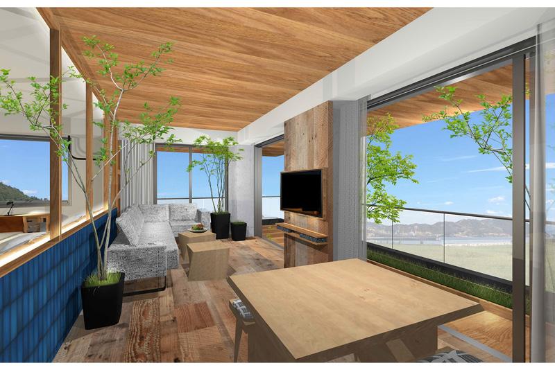 徒歩で宇野駅から1分、宇野港から3分の立地に「UNO HOTEL」が7月1日開業