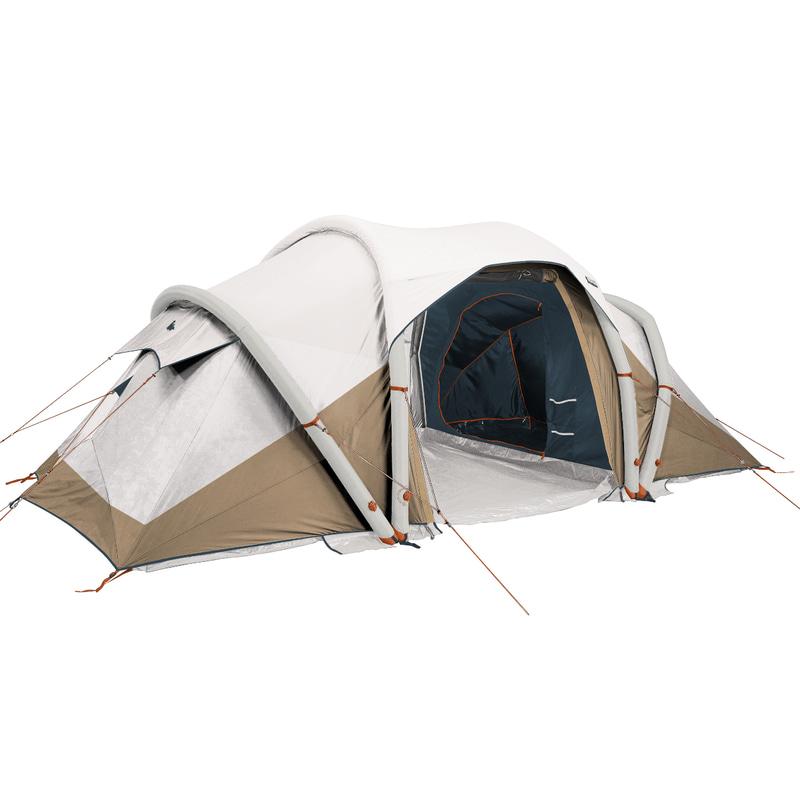 「QUECHUA(ケシュア)キャンプ ファミリーテント エアーテント AIR SECONDS FAM 4.2 FRESH&BLACK - 4人用 2ルーム」